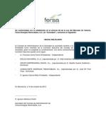 Fersa Composición de otros órganos de gestión y control - Nuevo nombramiento y composición de la Comisión. 2012