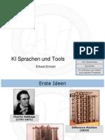 KI Sprachen Und Tools
