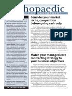 Opm409[1] Orthopediac 4-09 Issue Managed Care