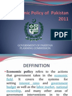 Economic Policy of Pakistan 2011 Slides