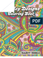 paisley designs coloring book dover coloring books - Dover Coloring Books