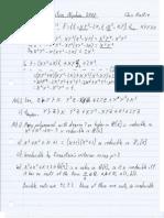 Commutative Algebra 2008 My Solutions