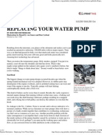 Popular Mechanics - Replacing Your Water Pump