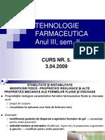 Tehnologie Farmaceutica Anul III, Curs 5