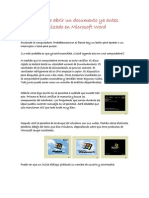 Como Abrir Un Documento Ya Antes Realizado en Microsoft Word