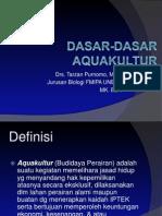 Dasar Dasar Aquakultur