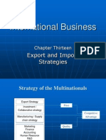 Export Strategies