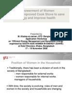 3EnergyEfficiency EmpowermentofWomenforuseofImprovedCookStove(ICS)Tosaveenergyandimprovehealth DrMKhanlequzzaman