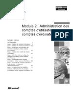 Administration Compte Utilisateur