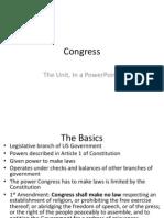 Congress US Politics AQA Unit 4A