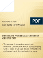 Anti-Wire Tapping Act