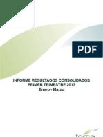 Fersa Informe Trimestral. 2013