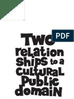"Negativland- ""Two Relationships to a Cultural Public Doman"""
