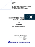 0260 573 PVE Y 233 03 Guaranteed Technical Particulars for GIS