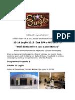 Evento 13-14 Luglio Day Spa o WE