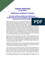 Bentham Emancipad Vuestras Colonias