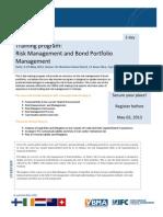 Risk Managemenent and Bond Porfolio Management May 9-10, 2013