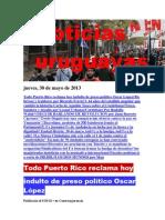 Noticias Uruguayas Jueves 30 de Mayo Del 2013