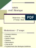 MODERNISMO - 2ª FASE - PROSA