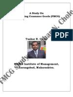A Study on FMCG by Tushar N. Chole