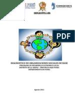Diagnostico Organizaciones Sociales - La Arena