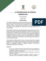 Programa Jornada Internacional de Ciencias Ambientales