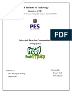 Integrated Marketing Communication of Frooti