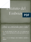 Estatuto del Embrión