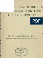 Tennyson's Idylls of the King and Arthurian Story From the XVIth Century (1894) MacCullum