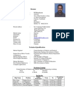 Resume and Certificates