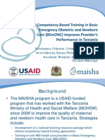 Competency-Based Training in Basic Emergency Obstetric and Newborn Care (BEmONC) Improves Provider's Performance in Tanzania