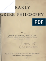 Early Greek Philosophy - John Burnet (1908)