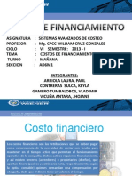 Trabajo Costo de Financiamiento