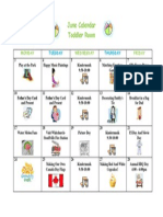 June Calendar - TODDLER