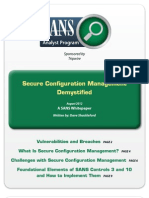 SANS Secure Configuration Management Demystified White Paper
