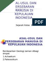 Asal Usul Persebaran Manusia Di Kepulauan Indonesia
