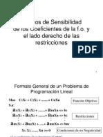 Analisis de Sensibilidad Usando Metodo Grafico