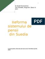 Reforma Sistemului de Pensii Din Suedia1