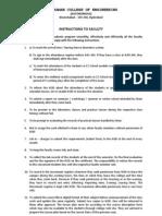 INSTRUCTIONS to FACULTY Invigilators and Evaluators