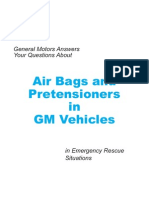 GM 2001 Airbags and Pretensioners