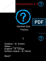 Quizzers Anonymous (RNSIT) Gen Quiz Prelims