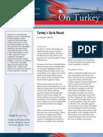 Turkey's Syria Reset