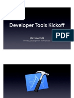 Session 400 - Developer Tools Kickoff