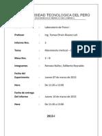 Informe 2 Movimiento Vertical – Caída Libre UTP