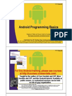 Android Programming Basics