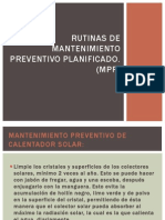 Rutinas de Mantenimiento Preventivo Planificado Michelle,Koster y Flor