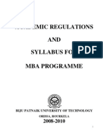 Final Updated New Syllabus MBA BPUT 2008-10