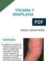 Urticaria y Anafilaxia