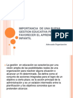 Importancia de Una Buena Gestion Educativa Para Favorecer