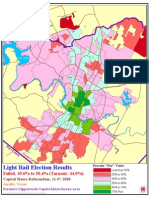 2000 Austin Capital Metro Light Rail Election Results